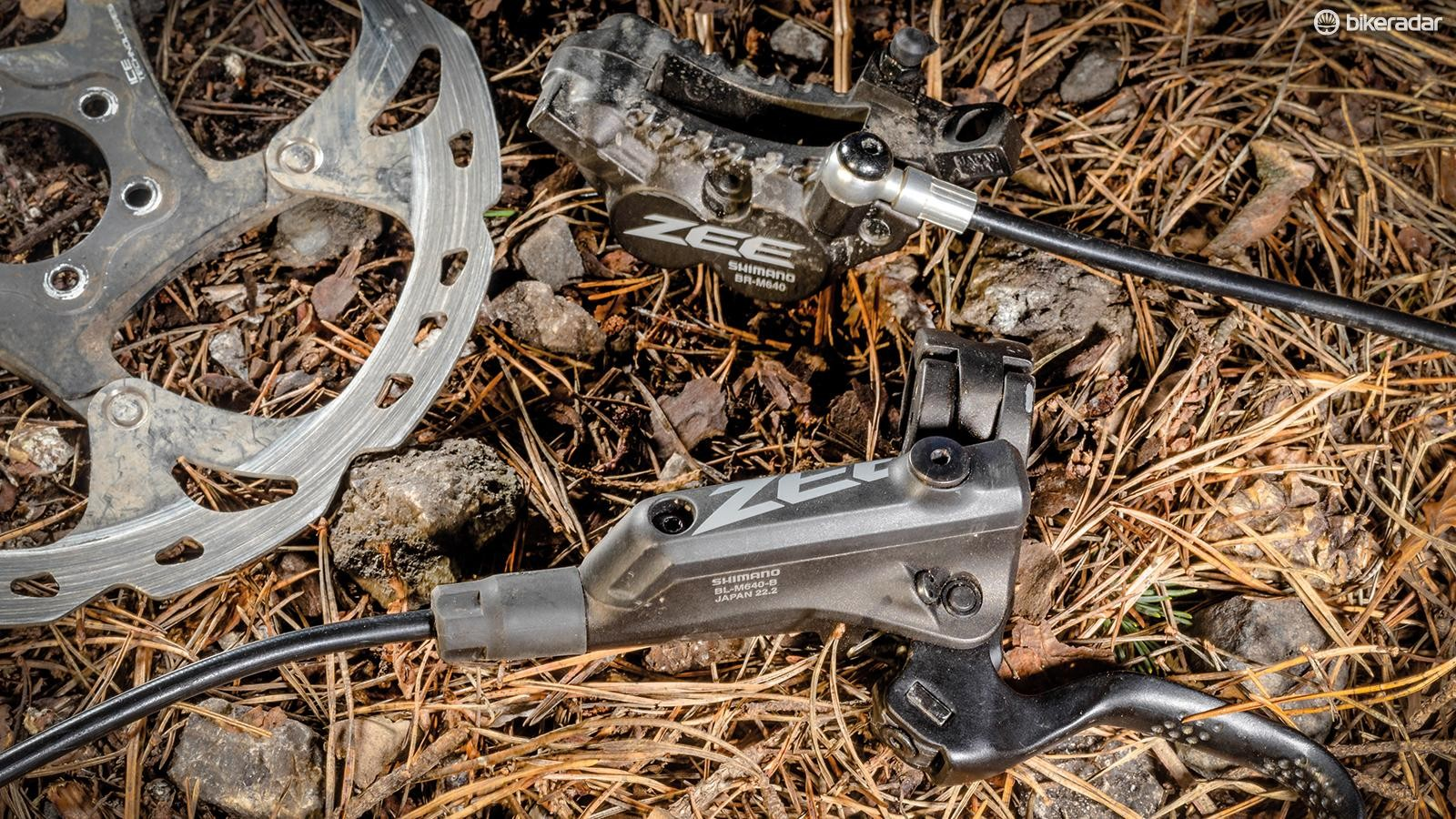 Shimano's Zee mixes an XC lever with a DH calliper