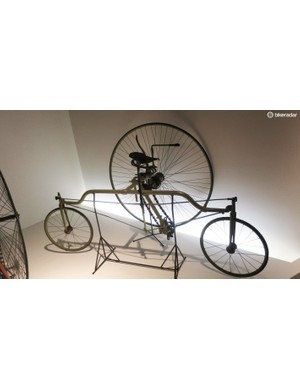 In 1884 a Coventry, UK company tried to convince us that the rotary tricycle was the way forward. The large wheel handled the drive while the two wheels at each end turn in opposite directions to handle steering – no, we're struggling to get our heads round it too