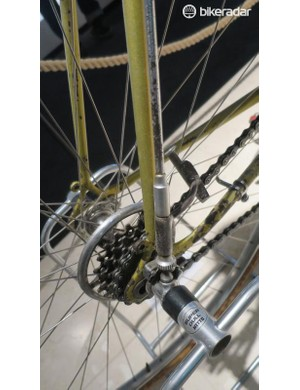 Campagnolo offered a similar system that ran down the rear seat stays, seen here on the LEGNANO bike