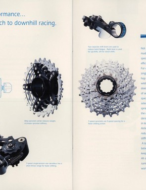 The cassette looks remarkably similar to SRAM's latest 7-speed offerings