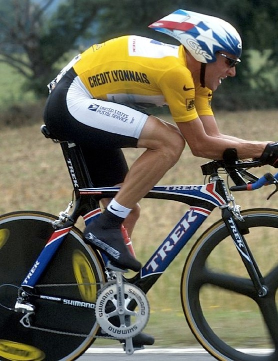 Armstrong powered his way to several Tour time trial victories.