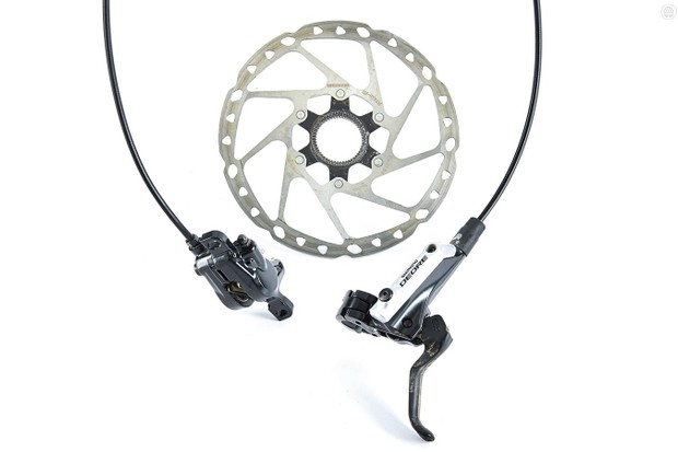 Shimano's Deore M615 brakes are solid stoppers, but the slightly more expensive SLX units hit the value sweet spot best of all