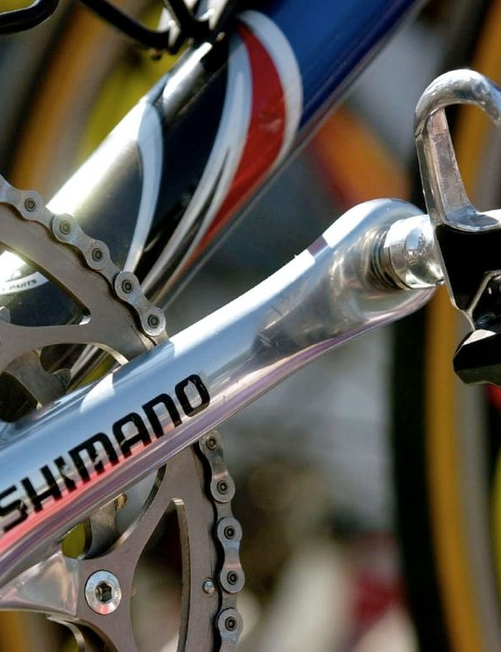 The Shimano pedals of Lance Armstrong.