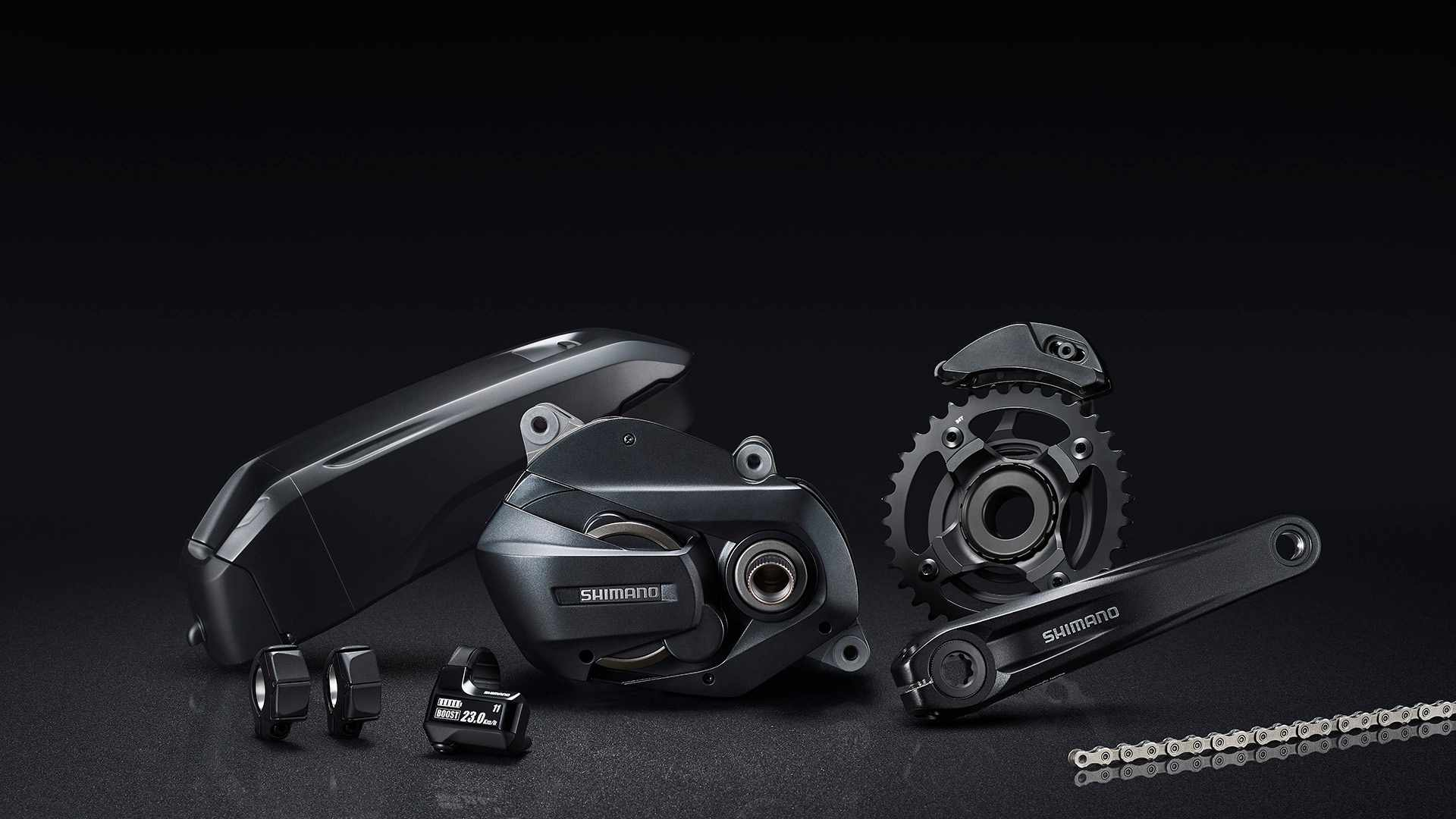 The new Shimano Steps E7000 groupset sits around SLX level in the e-MTB world