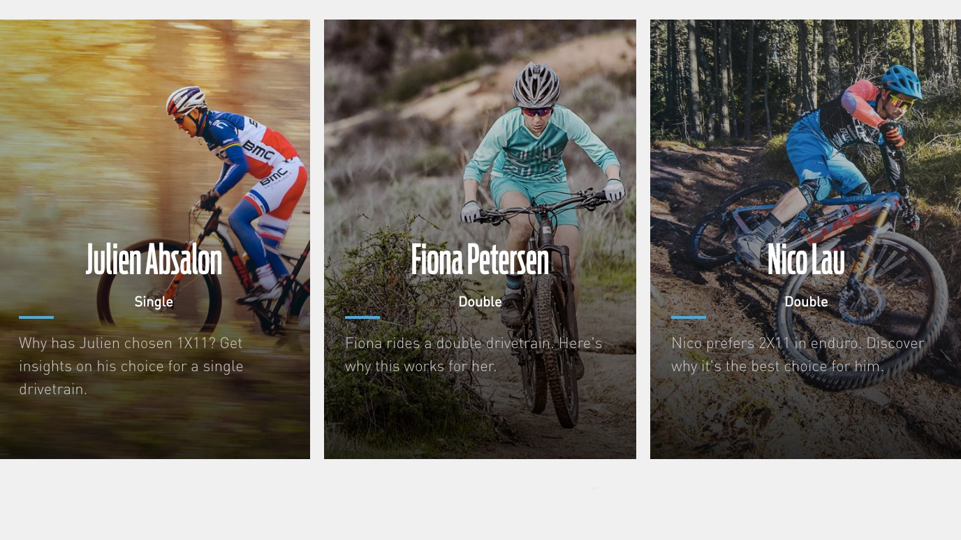 The website goes into detail why certain riders pick one or two rings