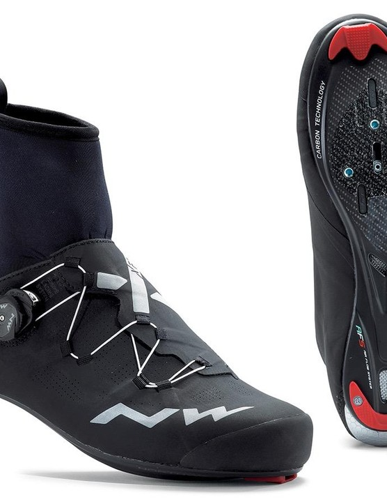 Northwave rolled out this Extreme RR GTX winter cycling shoe with integrated GoreTex cuff at Eurobike