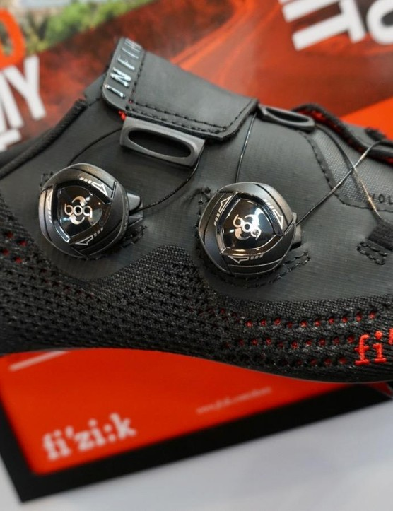 Although more subdued than Giro's offerings, Fizik also came to Eurobike with knit shoes