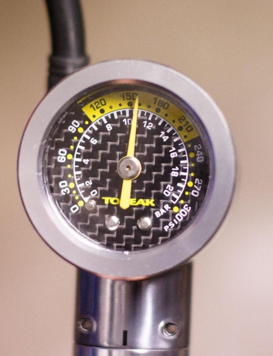 How the Topeak's gauge read when our verified benchmark gauge sat at 160psi