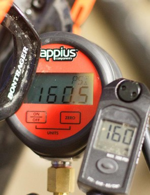 This pump's gauge lined up perfectly with our custom benchmark and verified gauge