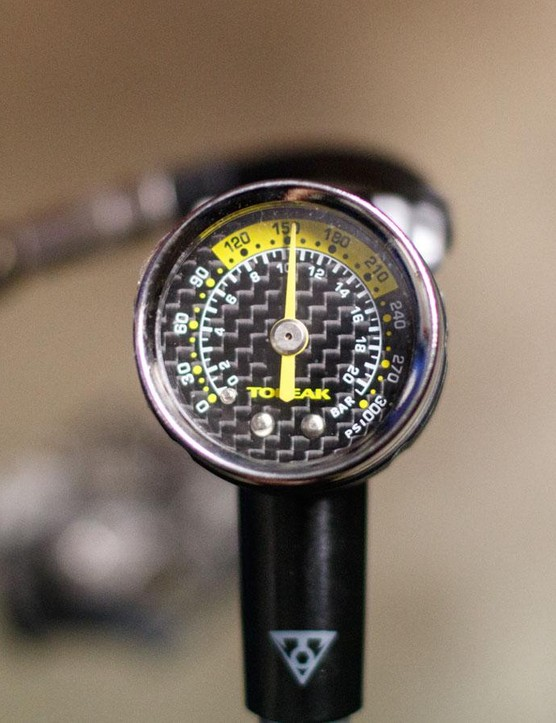 The DXG's large gauge is easy to read