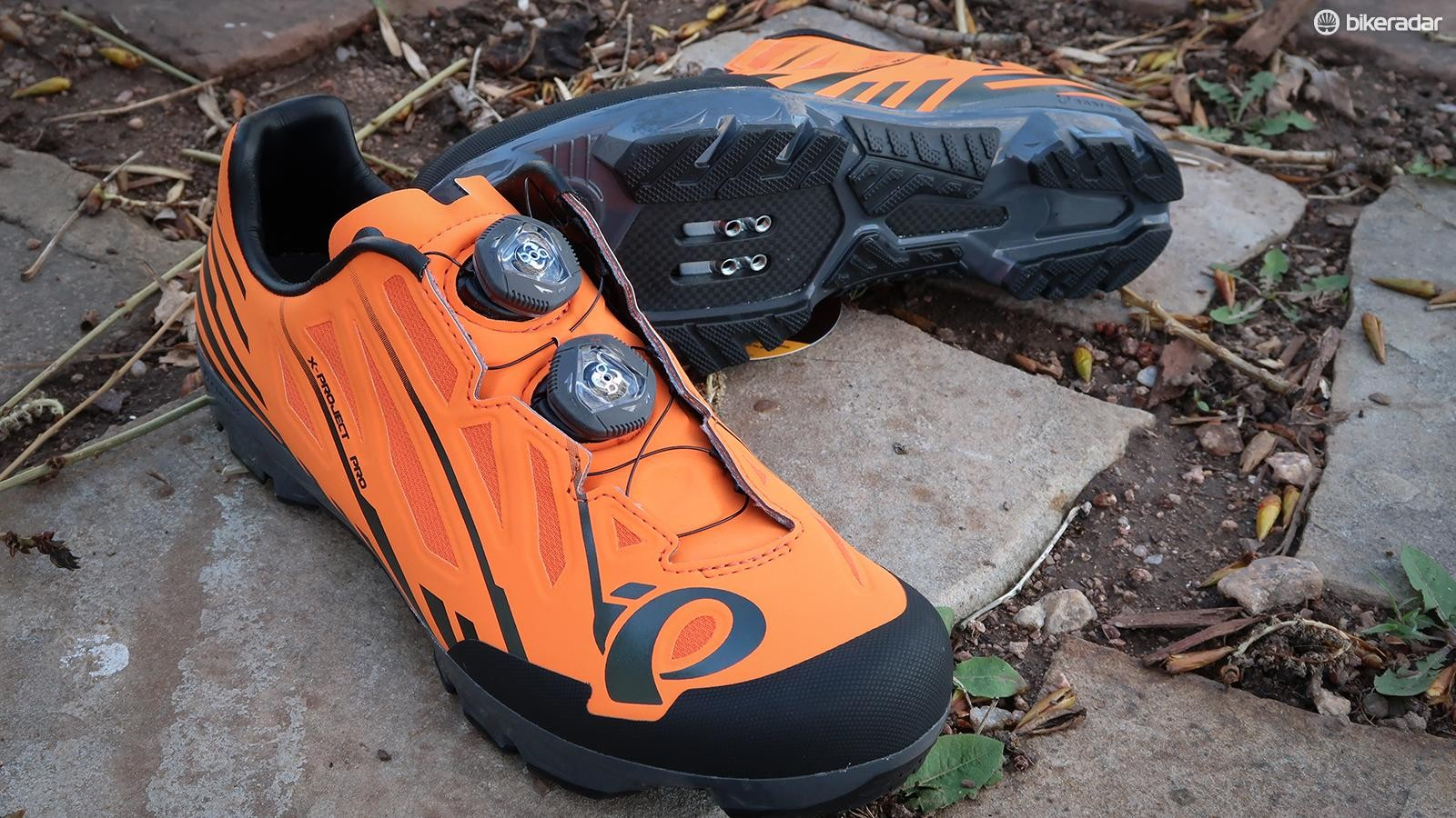 Pearl Izumi's X-Project Pro is the company's top end mountain and cyclocross shoe