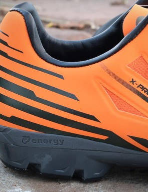 A bit of EVA padding at the heel absorbs impacts off the bike