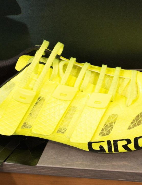 A few frame makers like Felt use TeXtreme for its high stiffness-to-weight ratio. Along with laces and a light upper, TeXtreme is how Giro made such a light shoe