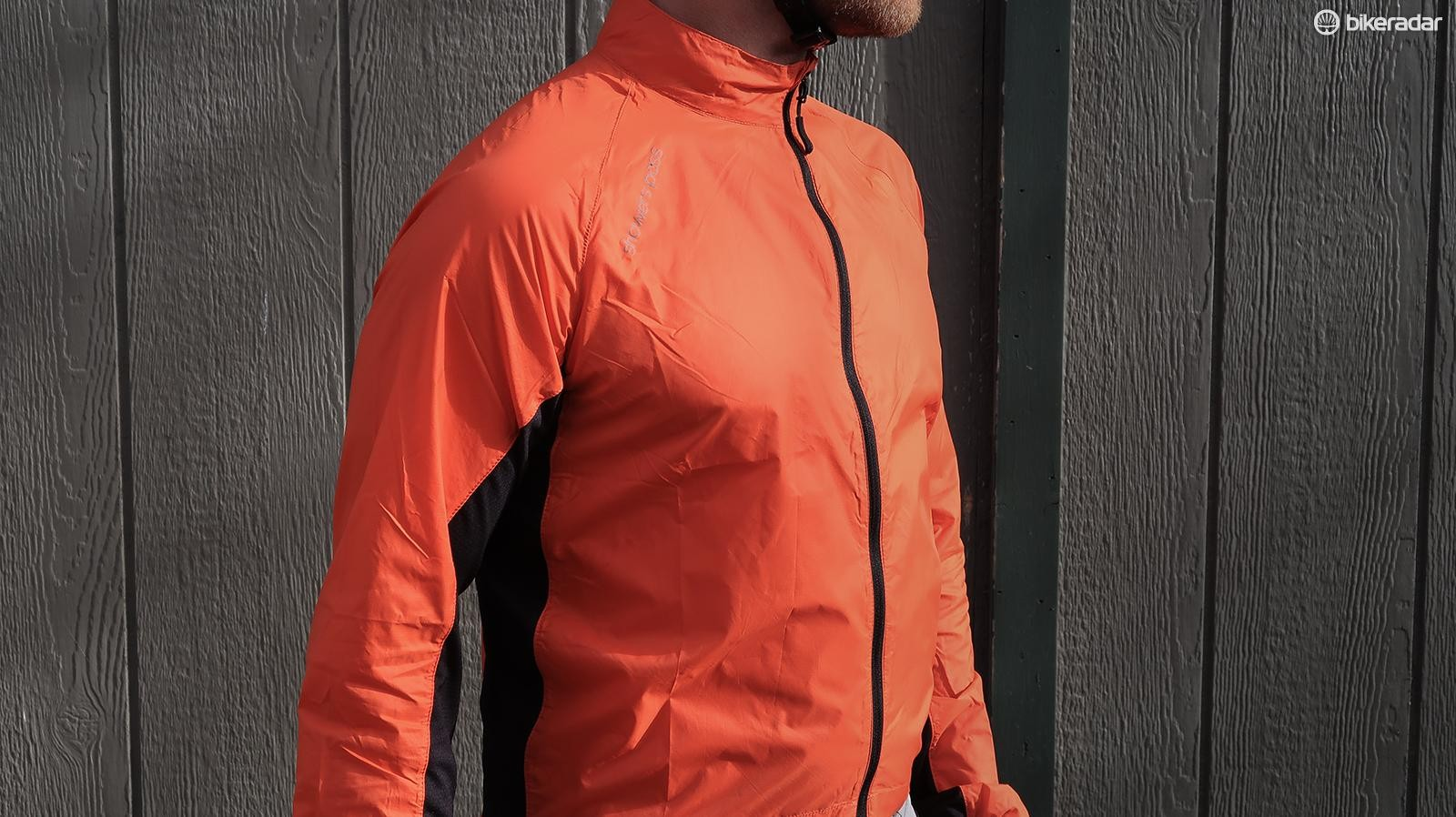 The Showers Pass Ultralight Wind Jacket is windproof and water resistant