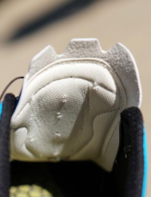 Sidi's Shot tongue is padded, but the plastic mount for the dials is substantial