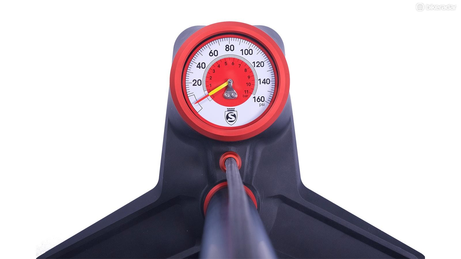 The SuperPista's gauge is bigger than the original, introduced in 1987