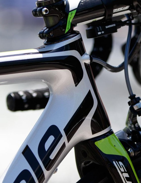 The new SuperSix Evo claims to feature aero tube profiling – it's extremely subtle…