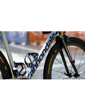 The metal-like paint is something not seen on other brands' bikes in the peloton