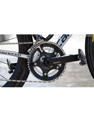 Three brands in one: Cannondale, FSA and SRM come together in this crankset