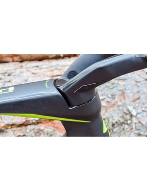 The stem may not be conventional, but the frameset is designed to work with standard cockpits too