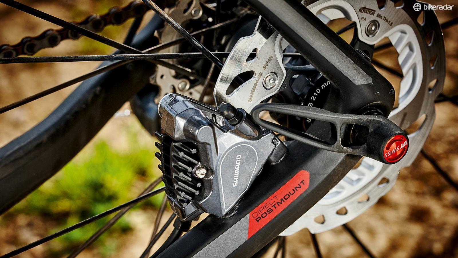 Shimano BR-RS805 brakes come with sensibly sized 160 and 140mm rotors