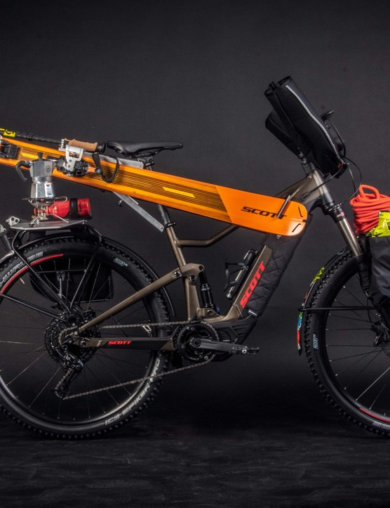 Seriously though, it can carry a heck of a lot of skiing equipment