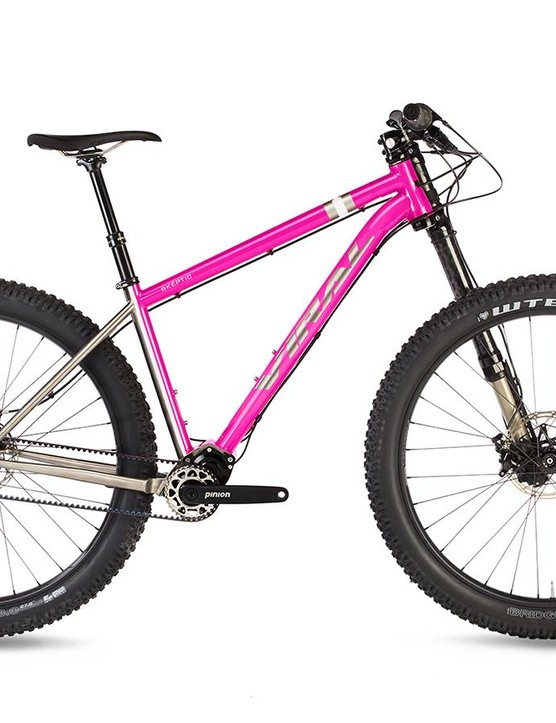Viral Bikes' 27.5+ hardtail is equipped with a 12-speed Pinion gearbox