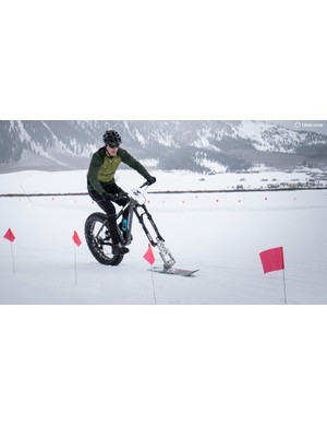 We're not sure this counts as a fat bicycle, but boy could this guy carve through corners