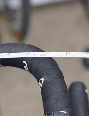Measured at the apex, the Japanese alloy bars are even skinnier
