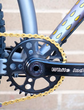 The White Industries crankset is one of many US-made components on this build