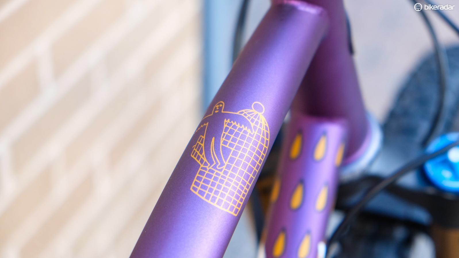 Details abound on this mountain bike
