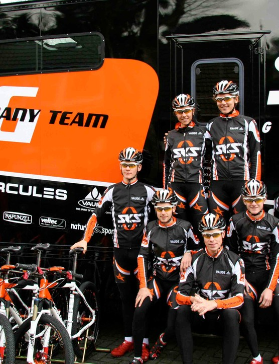 The 'Made in Germany' mountain bike team.