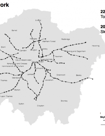 The proposed network for the Sky Cycle project