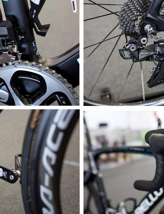 Team Sky just about had a full 9150 Di2 group