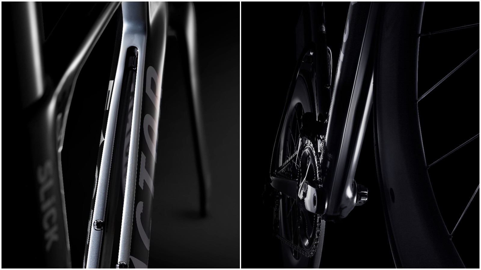 The Slick's most distinctive feature is this radical split down tube