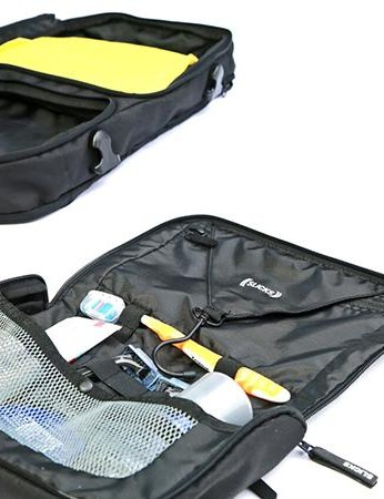 The Tripcover certainly does have you covered on trips. A small laundry bag, wash bag and shirt protector are all included