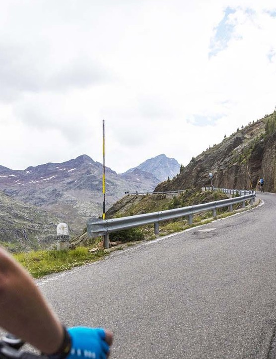 The Ascent of the Gavia is long and steep, as you'd expect from one of Italy's most iconic climbs