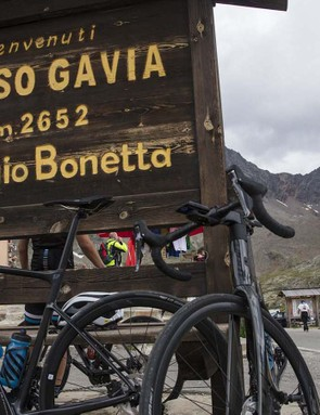 At the top of the Gavia a break is pretty welcome to say the least
