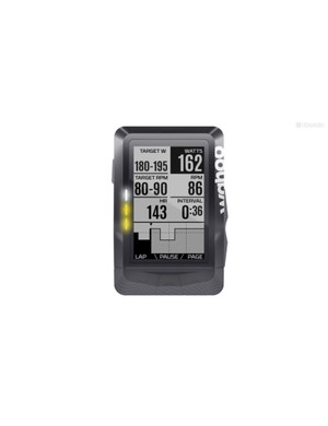 The Elemnt (shown) and Elemnt Bolt's LEDs indicate whether you are above, at or under target power