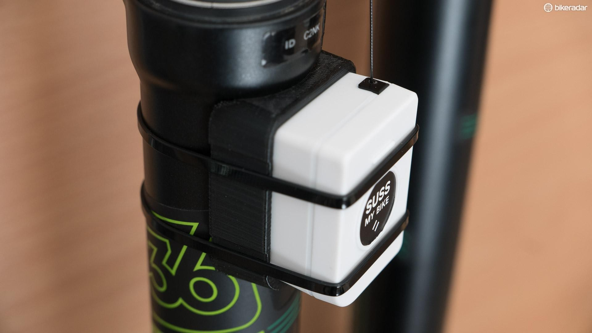 SussMyBike is a small Scottish company and its design works a bit like a retractable ski pass holder
