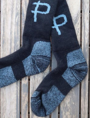 Pearly's latest socks are a bit taller and a bit thinner, making them well suited to warm weather riding