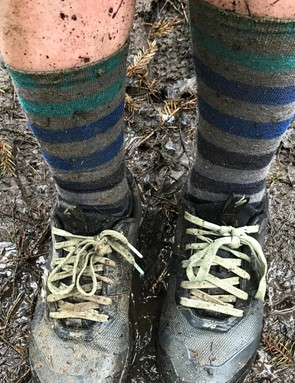 In this case, waterproof socks might have been a better choice