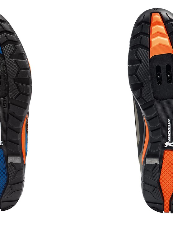 Northwave has again partnered with Michelin to produce the soles for its MTB shoes