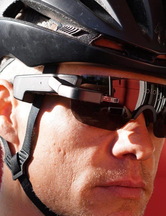 The Solos glasses aren't as enormous as the Recon Jet wrap-arounds, but they are still a far cry from normal sunglasses