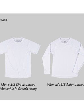 Men's and women's, short and long-sleeve versions are available