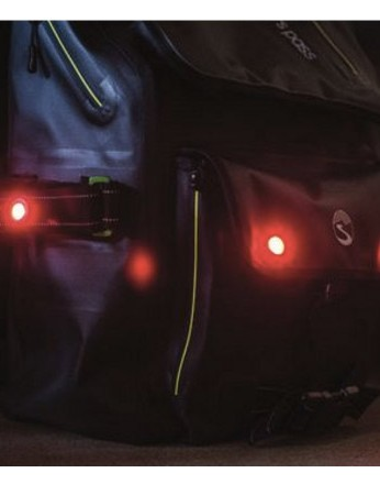 Both the Transit and the Utility packs have four LED lights, two on the back, one on each side
