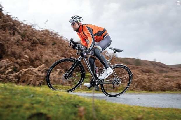 Stand up and it still glides as though you're riding on a tyre-width strip of glass