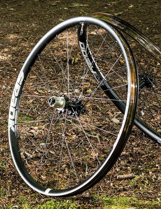 The Spank Oozy 345 wheels will roll over everything you point them at
