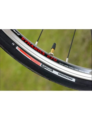 Jalco rims are strong and dependable and the Specialized Mondo tyres are kings of speed