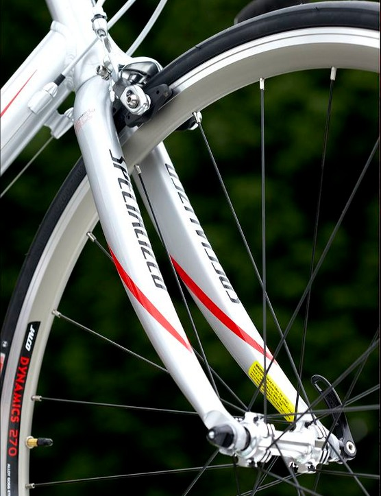 The rims are a little heavier than the more recently conceived designs from Mavic and Shimano, but we have yet to hear of any problems with them.